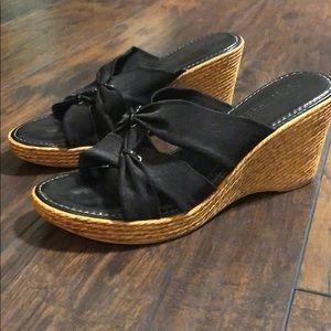 Italian Shoemakers black wedges